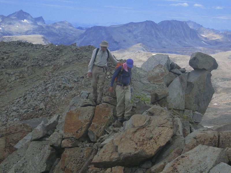 Asher and Dan on the ridgeline