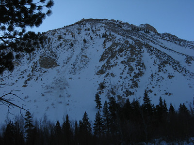 looking towards Mt. Kidd