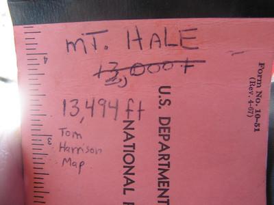Mt. Hale 13,494