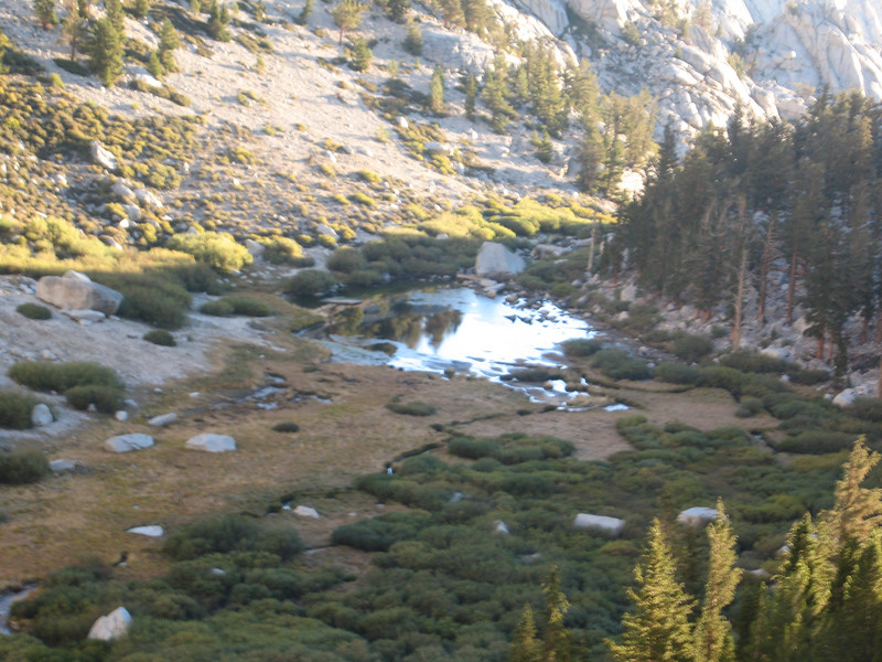 looking back down at Lower Boy Scout Lake