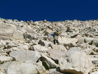 Jim and Rafael on the scree
