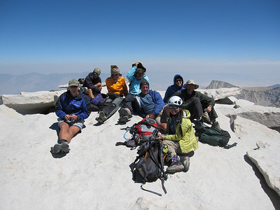 our group of 8 on the summit of Mt. Whitney