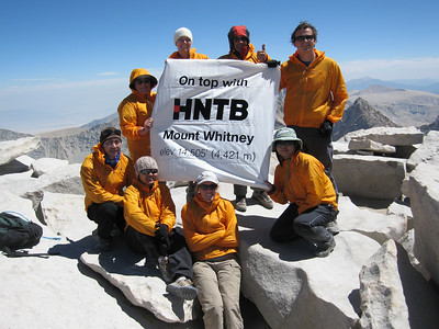 a group of happy HNTB summiters - the summit looked bery orange this day
