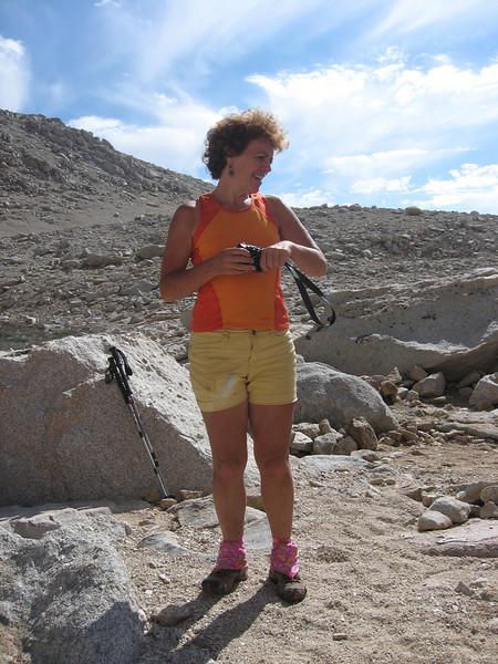 Kathy at East Face Lake