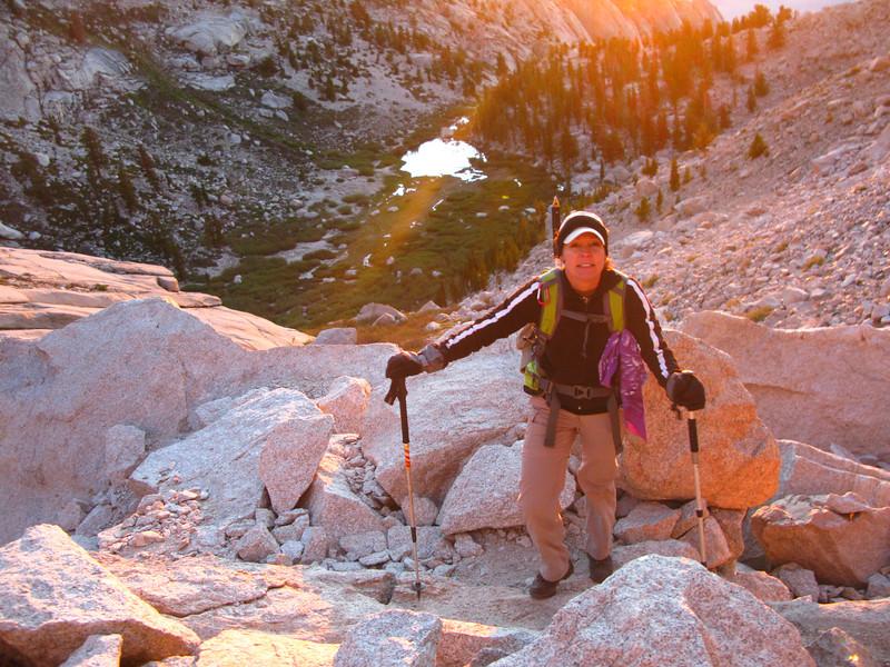 Lisa above Lower Boy Scout Lake