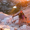 Lisa above Lower Boy Scout Lake