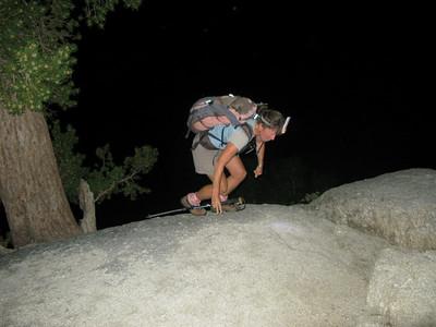 Rachel aproaching the ledges