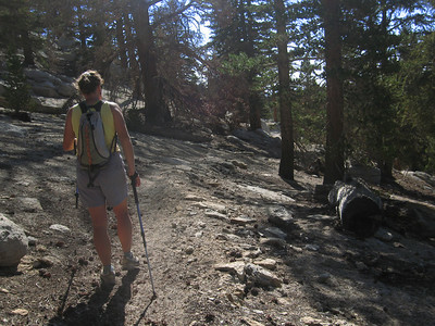 Rachel heading along the PCT