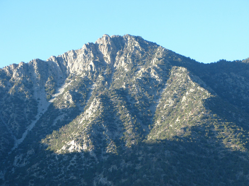 view of Sawtooth Peak from 9 Mile Rd.