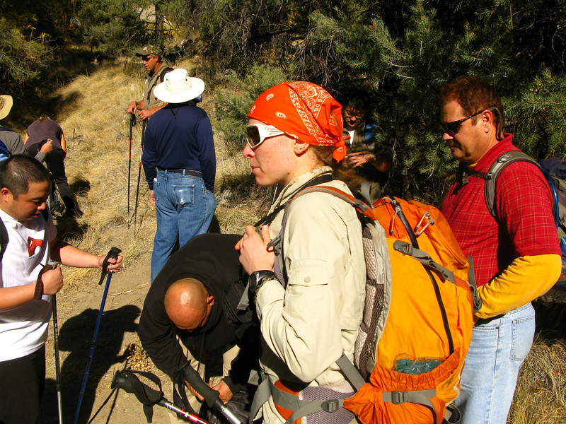 taking a break where we leave the PCT