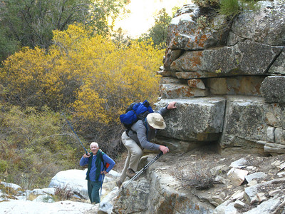 some minor boulder scrambling