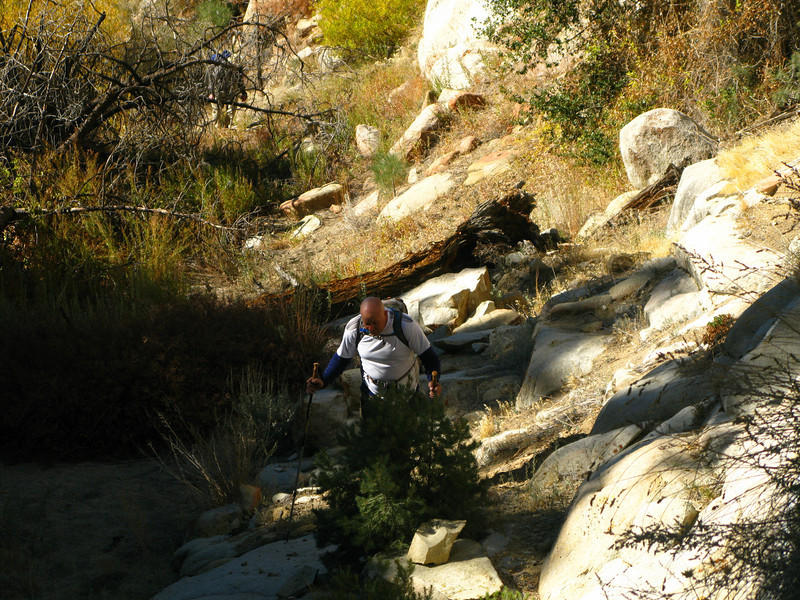 alternate route leading up creek drainage