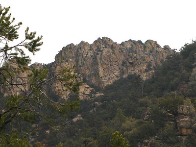 crags along the route
