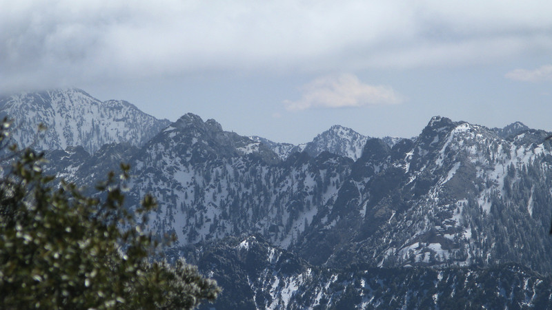 view of Spanish Needle - still a lot of snow here - hope its melted when we hike this in 3 weeks