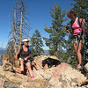 Kathy and Lisa; Lady and Jaymee on the summit of Schaeffer