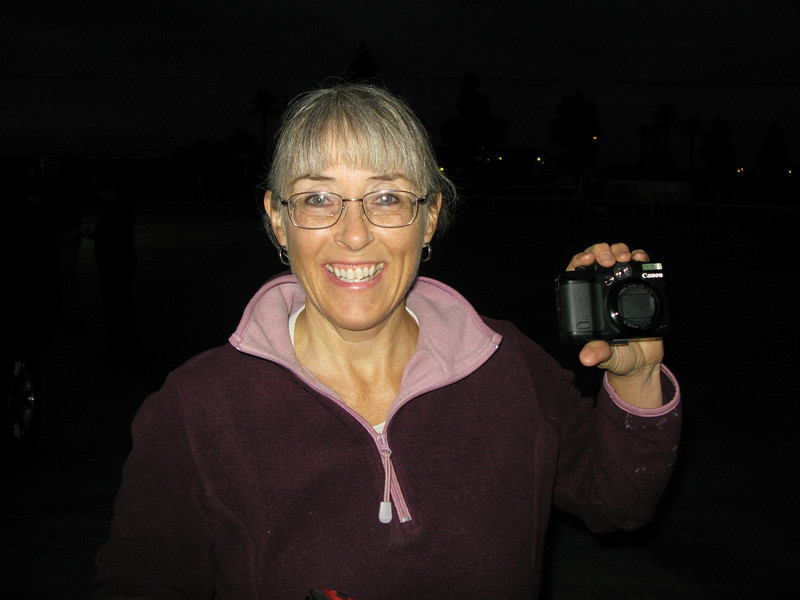 Alice showing off her new G-10 camera - nice birthday present