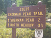 from Sherman Pass - the trail leading directly to the peak