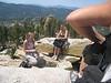 Tara & Stacey dipping the gatorade