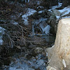 ice on the stream flowing into the Portal