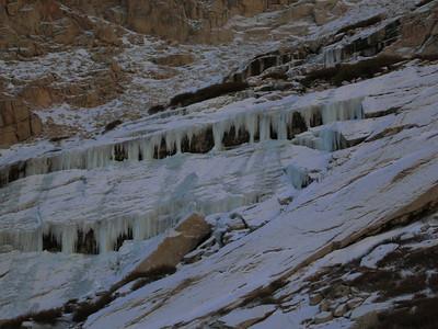 frozen blue ice below Girl Scout Lake