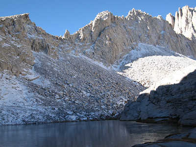 sunlight on the edges of the pinnacle ridge