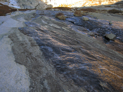 ice on the slabs