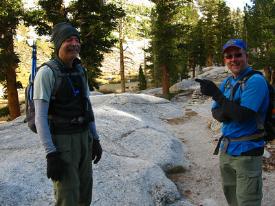 met Sierra Gator and Richard enroute back from their first summit today - they will later do a double