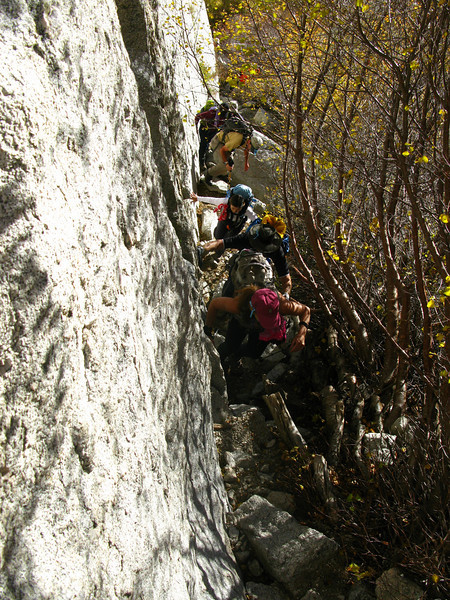 approaching the ledges