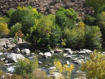 the trail follows the Kern River