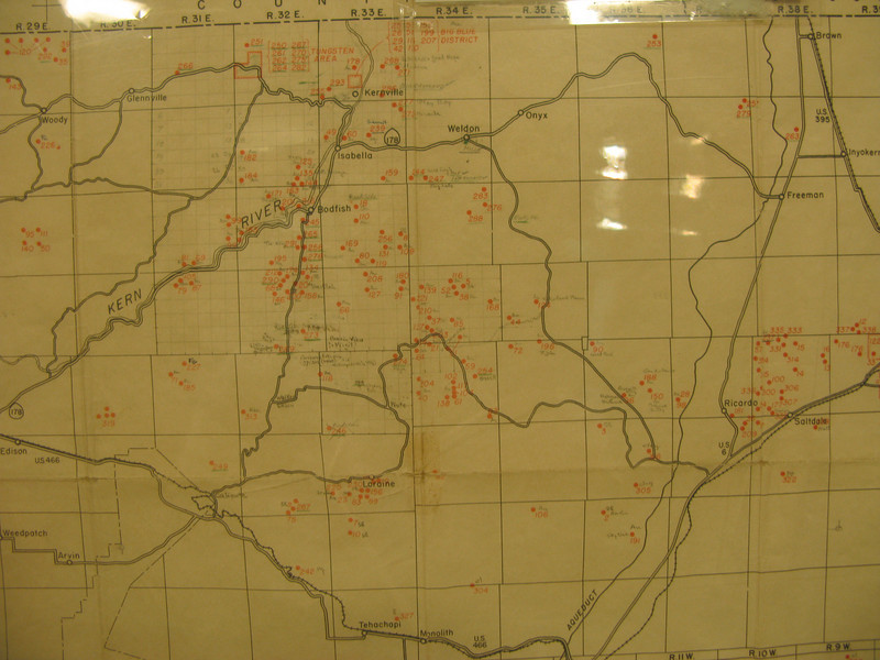 Kern County mining map