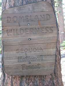 entering Domeland Wilderness at the pass