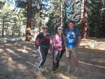 Alice, Lisa and Tom at the trailhead