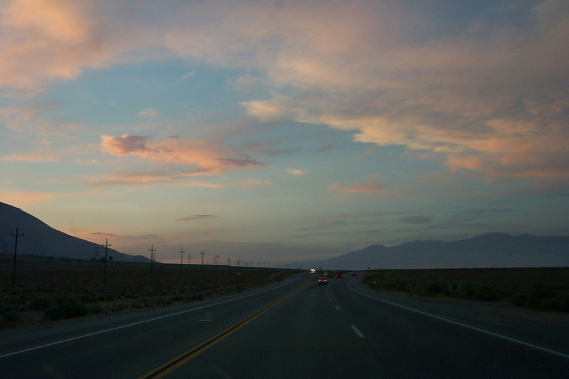 Driving up to Onion Valley, west of Independence to do a solo hike to Kearsarge Peak.