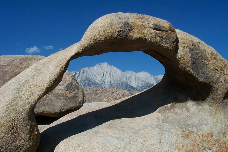 Lone Pine Peak in the arch.