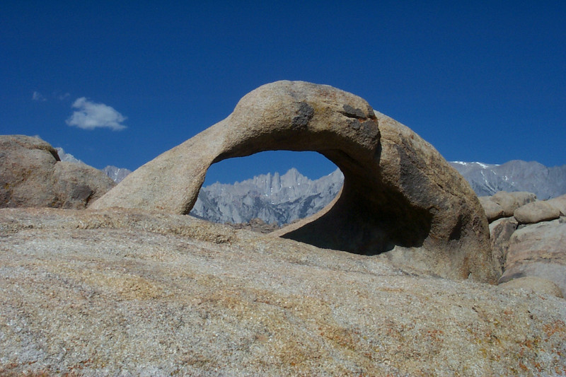 Mount Whitney, 14,494 feet in the arch.