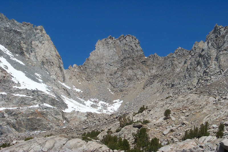 Zoomed in on Dragon Tooth, 12,480 feet.