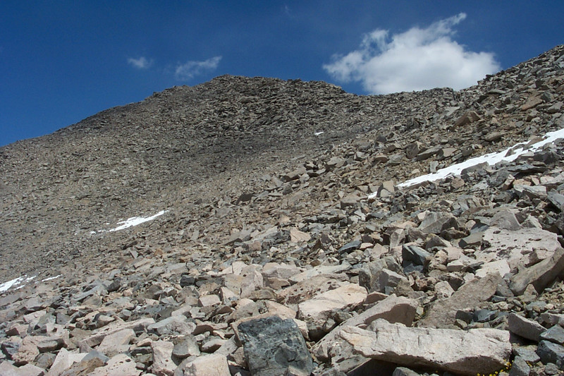 Looking back up at Kearsarge Peak.