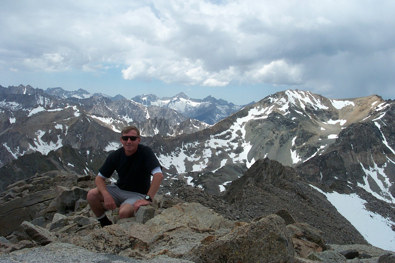 Me on Kearsarge Peak at 12,598 feet with a view to the southwest.