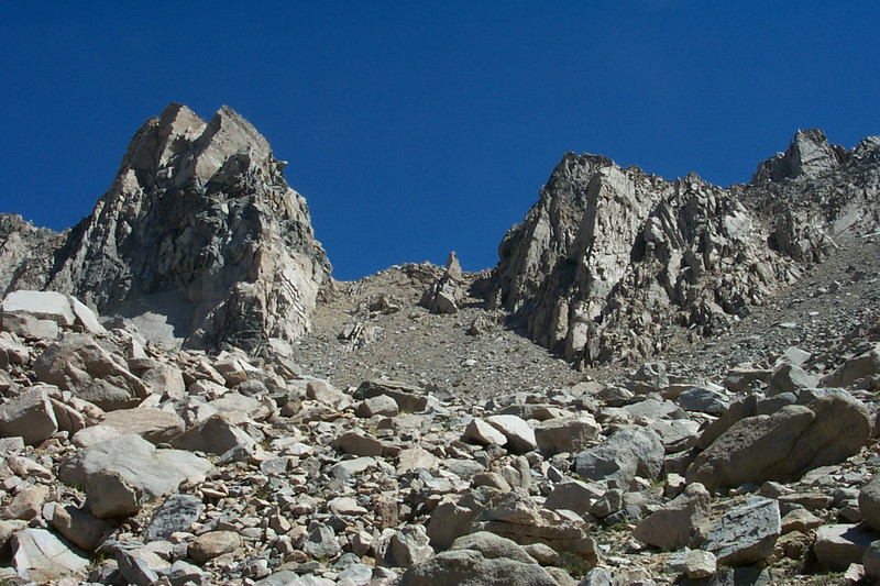 Looking up to the pass, it's higher and steeper than it looks.