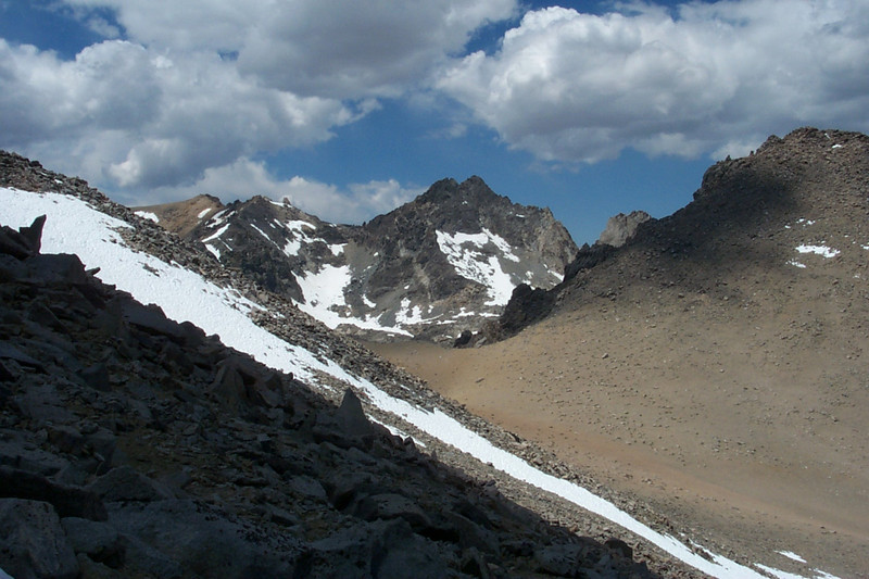 Looking over Lilley Pass to Dragon Peak, 12,955 feet.