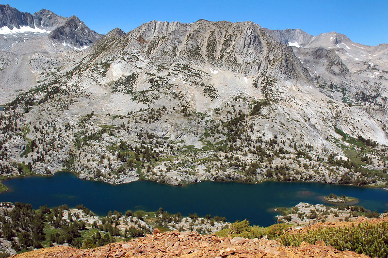 Long Lake with Hurd Peak 12,237 feet.