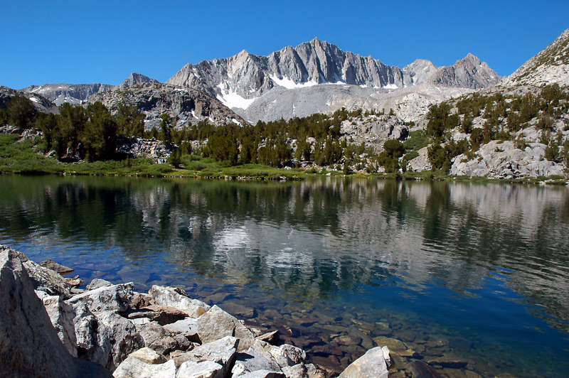 Long Lake's north end with Mount Goode 13,085 feet.