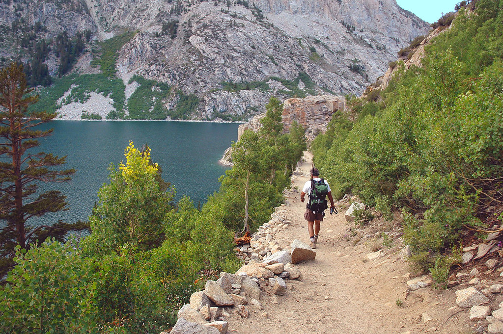 On the last section of trail. The hike is almost over.