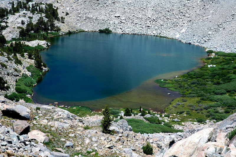 The first of the Chocolate Lakes. The main reason I wanted to do this hike was to see all the lakes that surround Chocolate Peak.