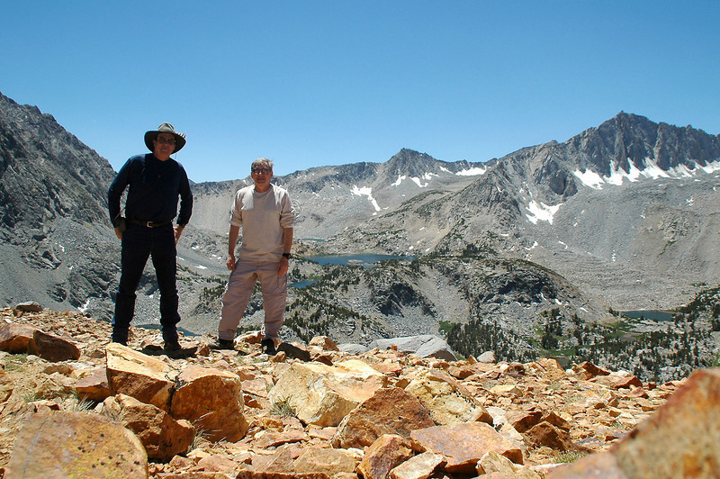 Tom and me on Clocolate Peak at 11,682 feet.