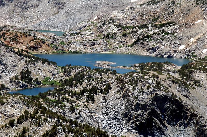Zoomed in on Saddlerock Lake.