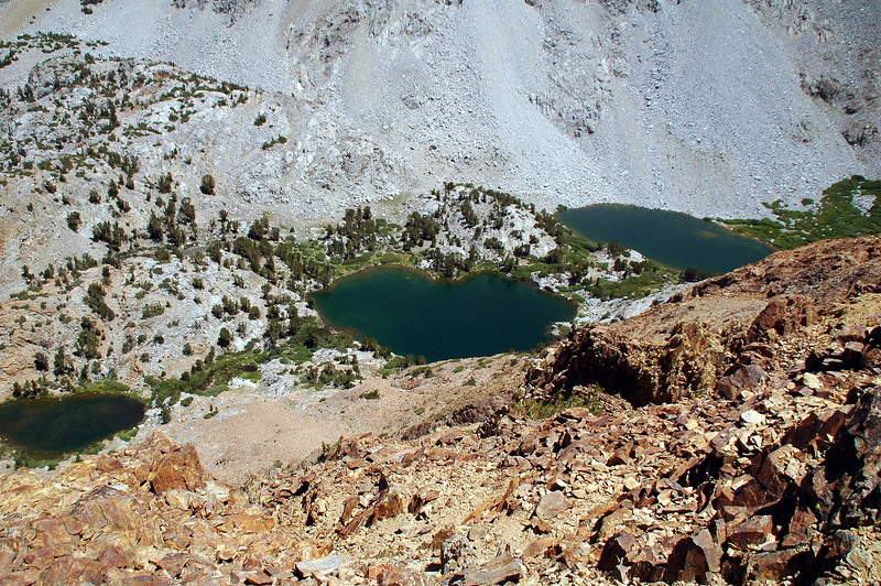Below to the east are the three Chocolate Lakes.