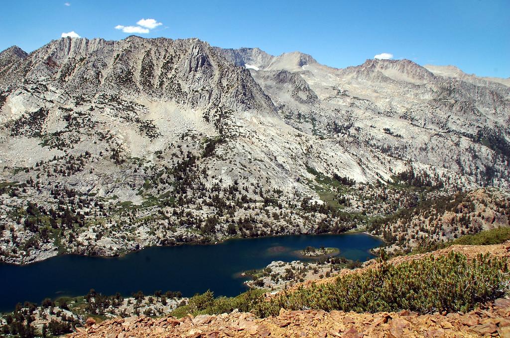 North end of Long Lake with Hurd Peak ( 12,237 feet).