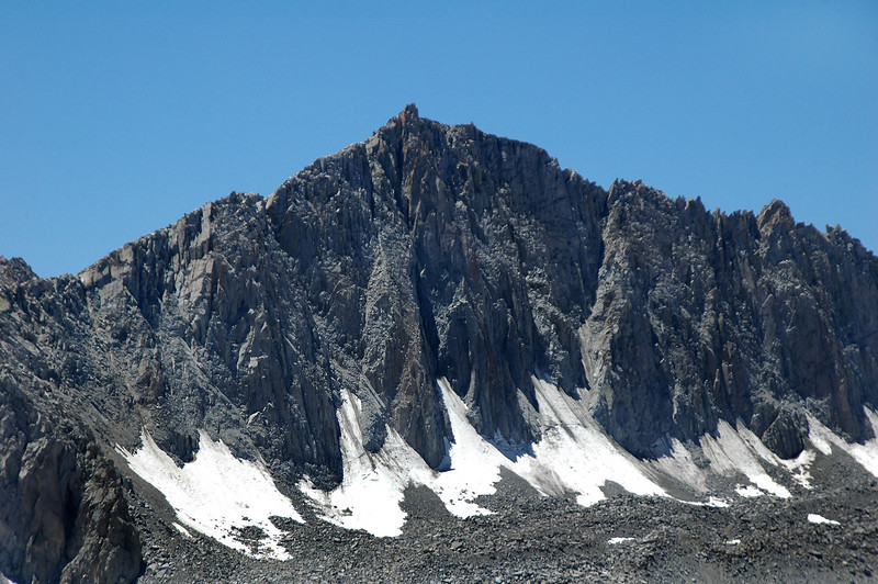 Zoomed in on Mount Goode's 13,085 foot summit.