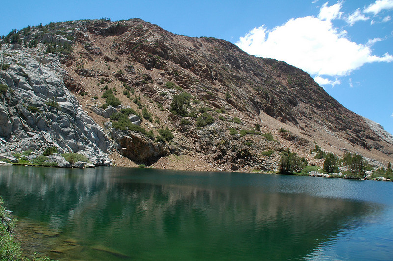 View of Chocolate Peak from the second Chocolate Lake.